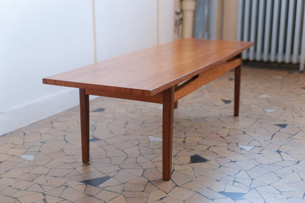 Table basse scandinave teck clair