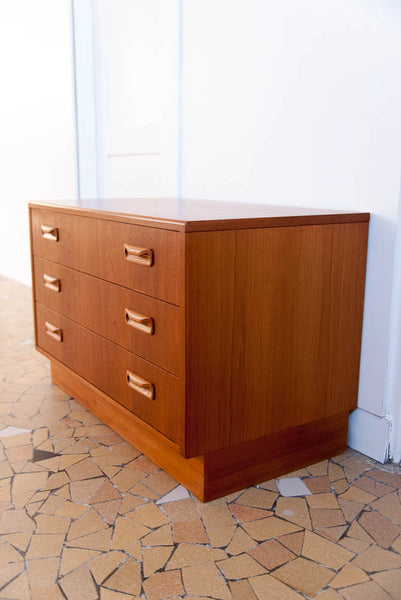 Commode basse Gplan teck clair