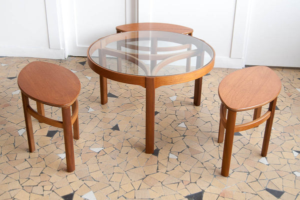 Table basse ronde gigogne