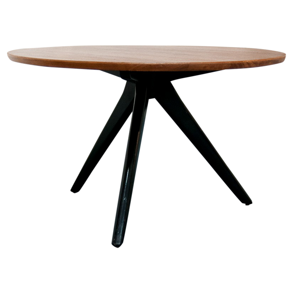 Table basse scandinave ronde tripode vintage monsieur - Table basse scandinave ronde ...