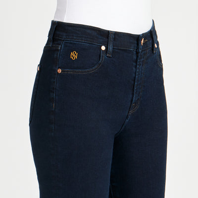 Soul of Nomad Women's Skinny Luxury Jeans Dark Blue