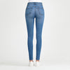 Soul of Nomad Women's Skinny Luxury Jeans Medium Wash Blue
