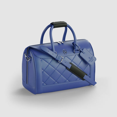 Blue Leather Luxury Duffle bag