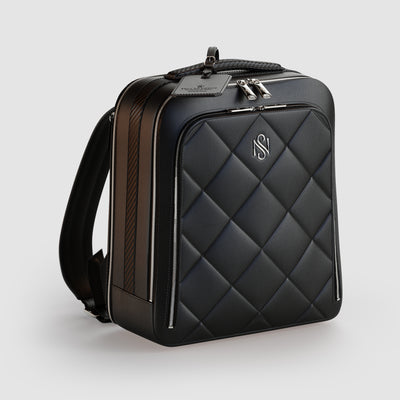 Black Leather Luxury Backpack
