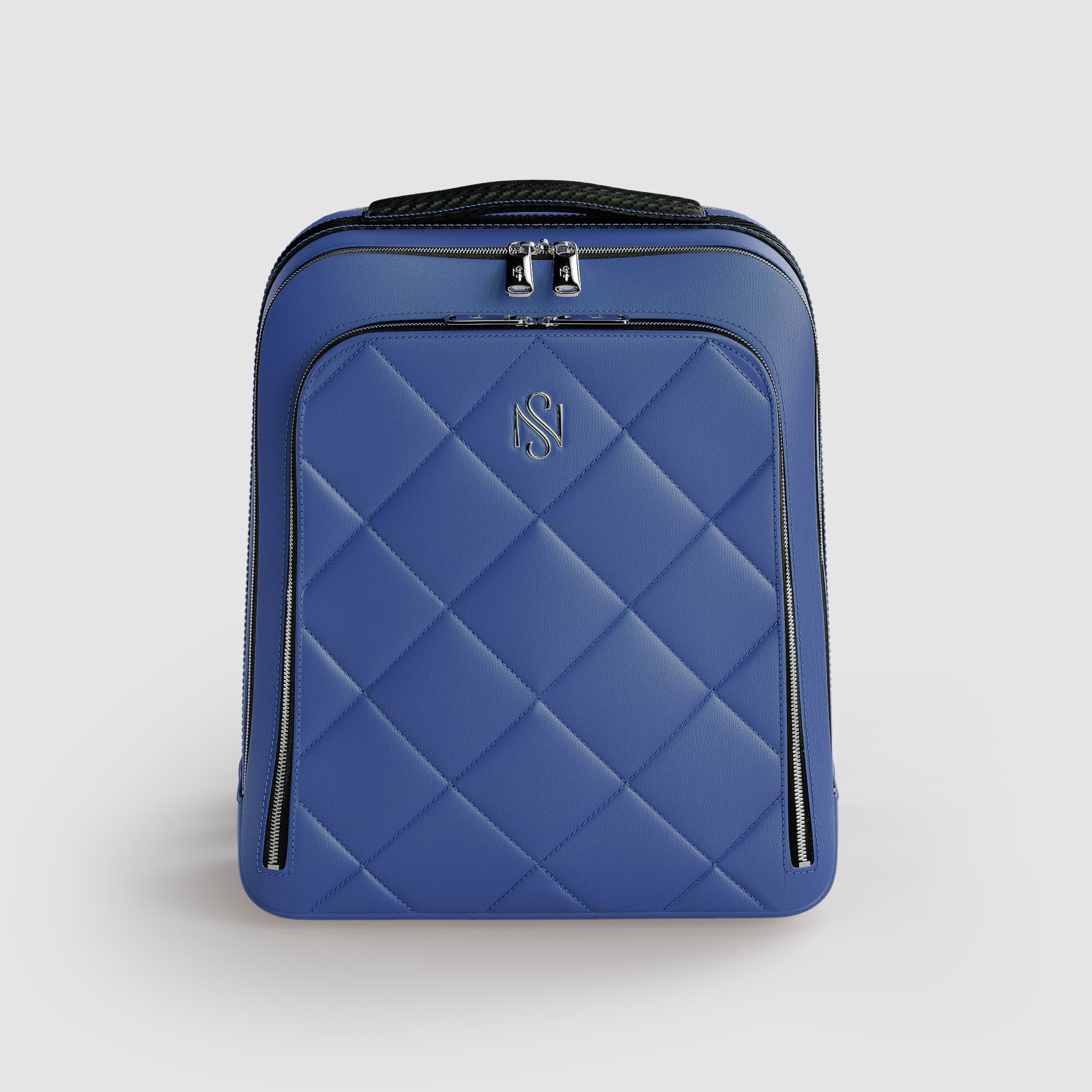 Blue Leather Luxury Backpack