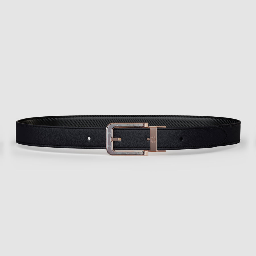 Odysseus Gold Black & Carbon Belt