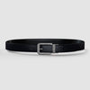 Platinum Reversible Black & Carbon Fiber Leather Belt