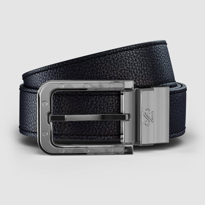 Platinum Reversible Black & Brown Leather Belt