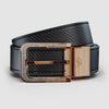Black & Carbon fiber Reversible Leather Belt - Soul of Nomad