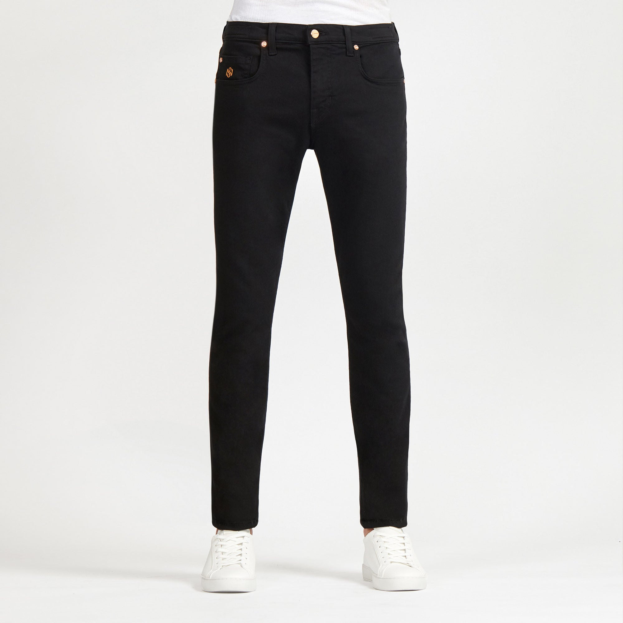 Men's Skinny Luxury Jeans Black Wash