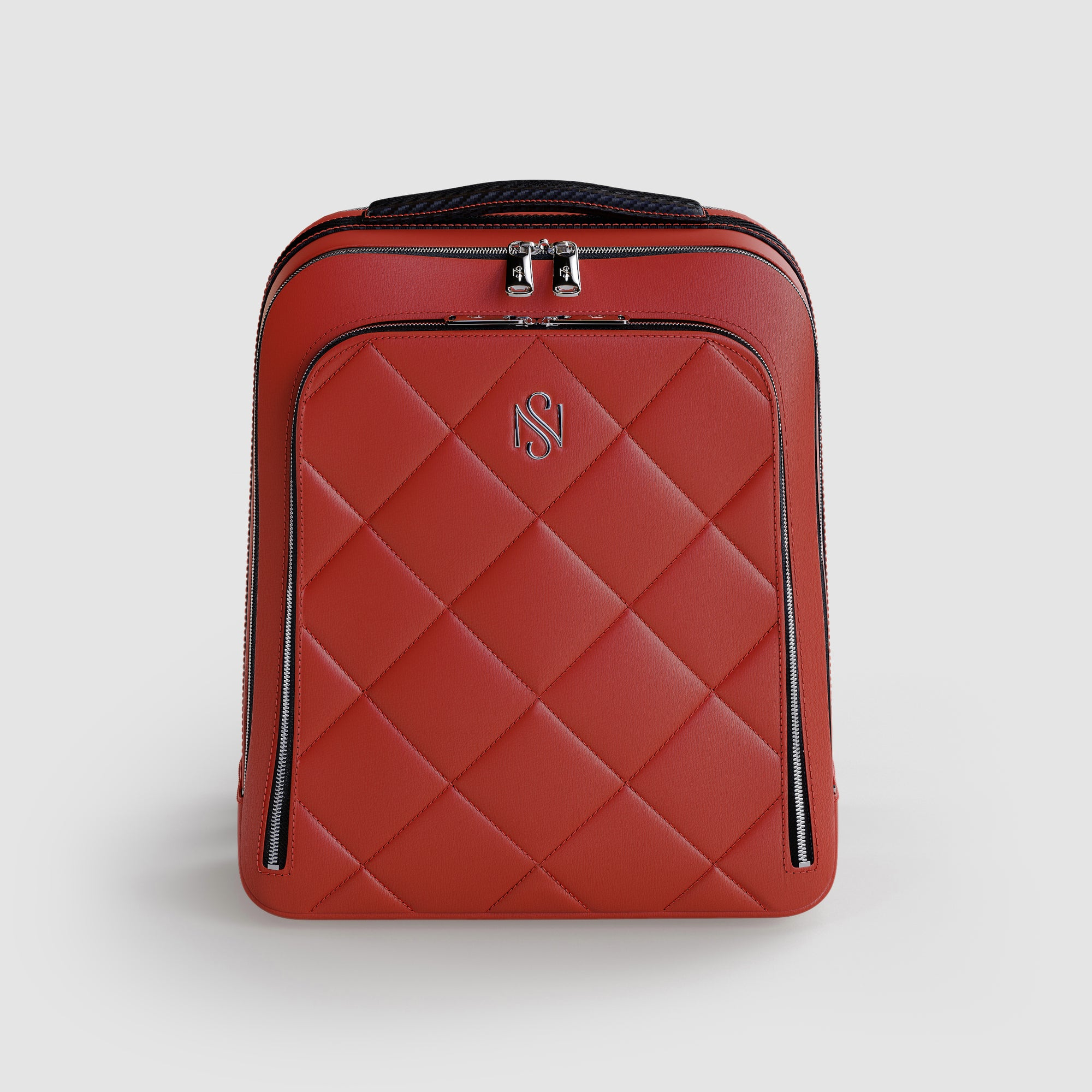 Red Leather Luxury Backpack