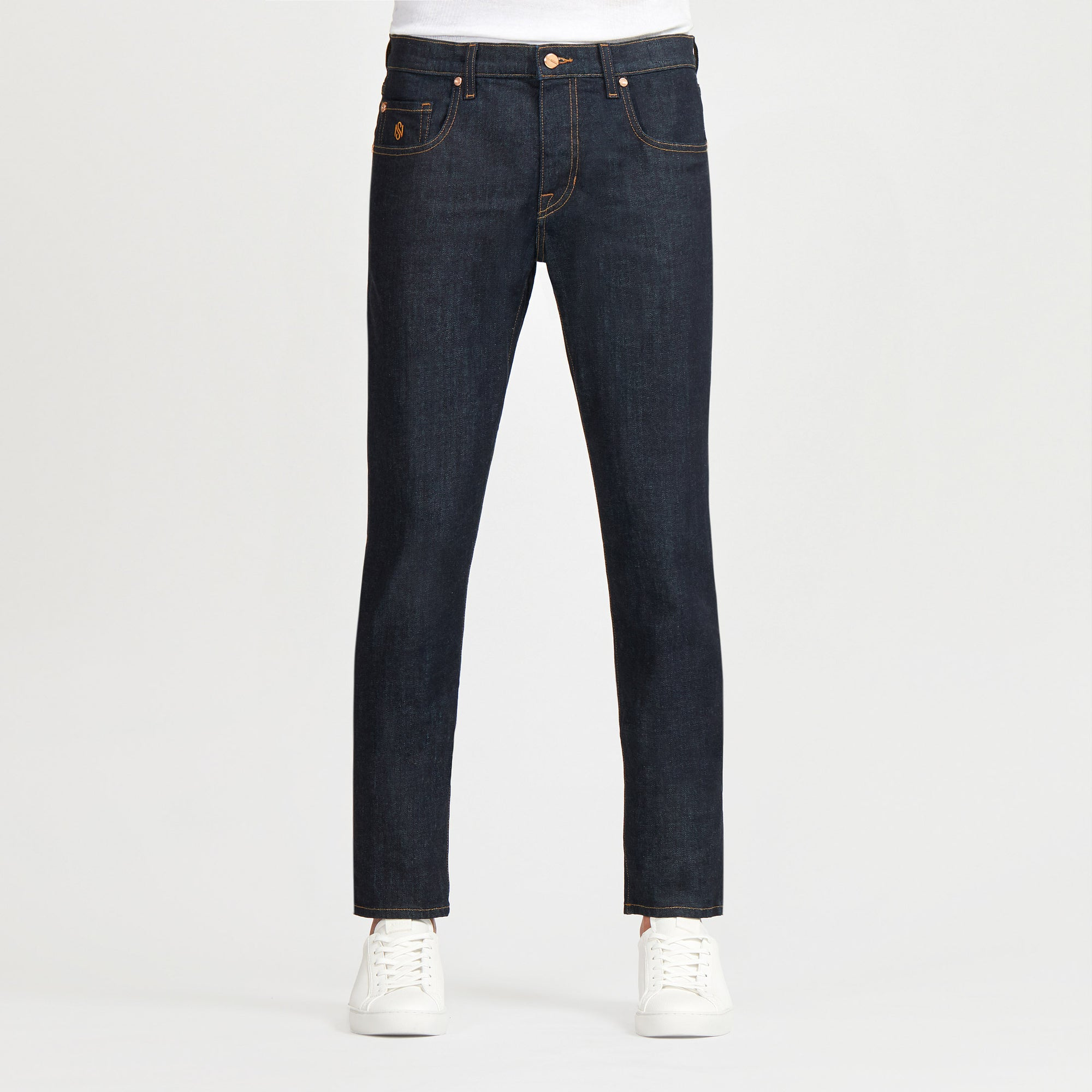 Men's Slim Luxury Jeans Dark Blue