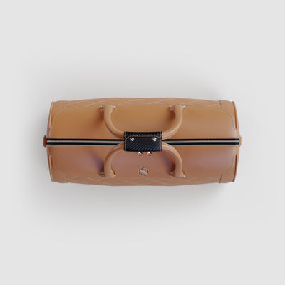 Sand Leather Luxury Duffle