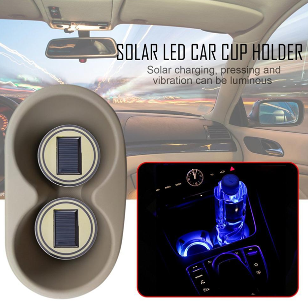 Solar LED Cup Holder Lights (1 Pair)