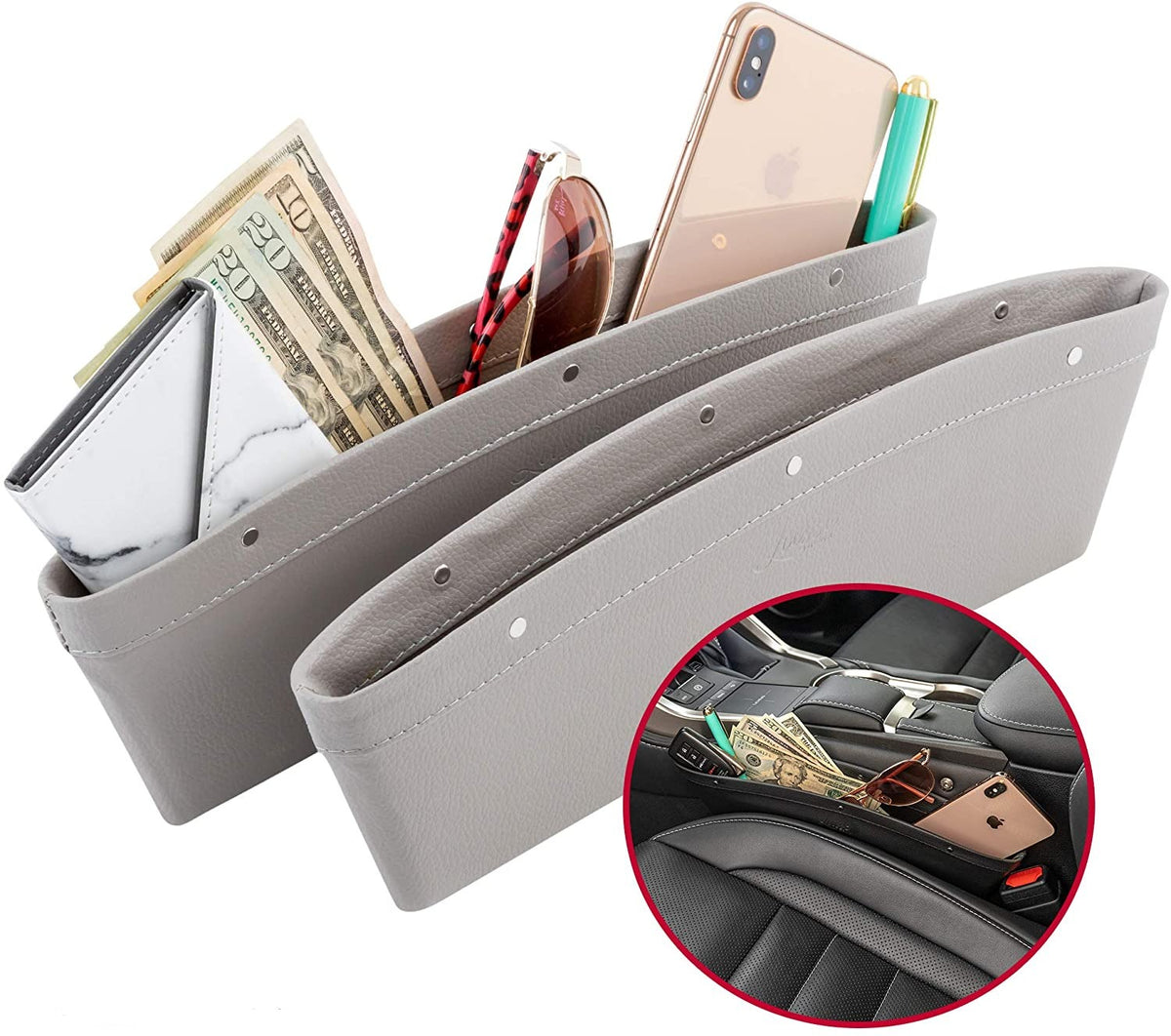 Leather Car Pocket Organizer