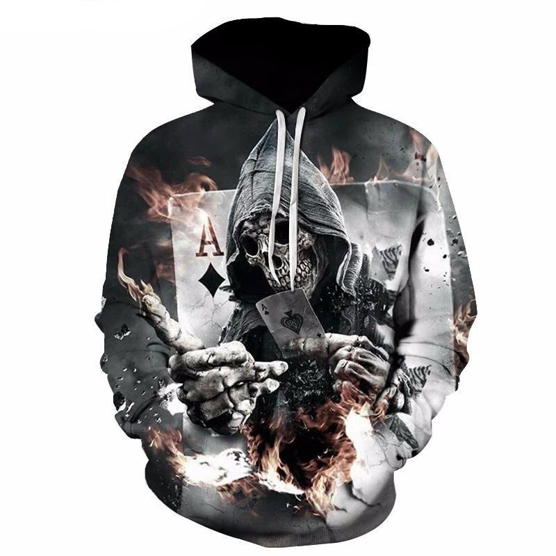 Skull Poker Hoodies