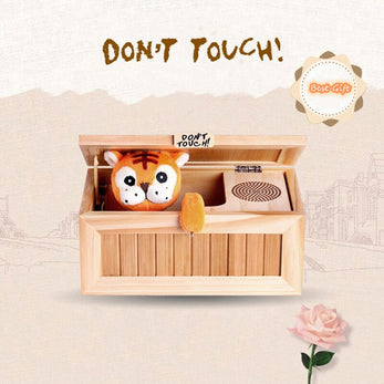 """Don't touch!"" Useless Wooden Box"