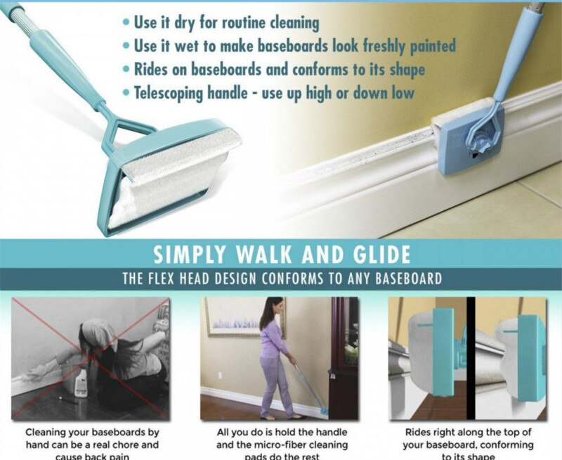 Adjustable Conforming Baseboard Cleaner