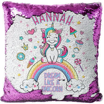Personalised UNICORN Sequin Pillow