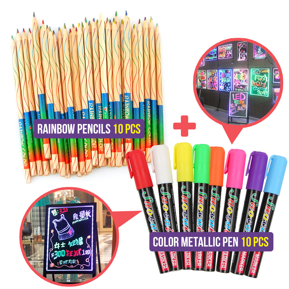 Creative Rainbow Pencils