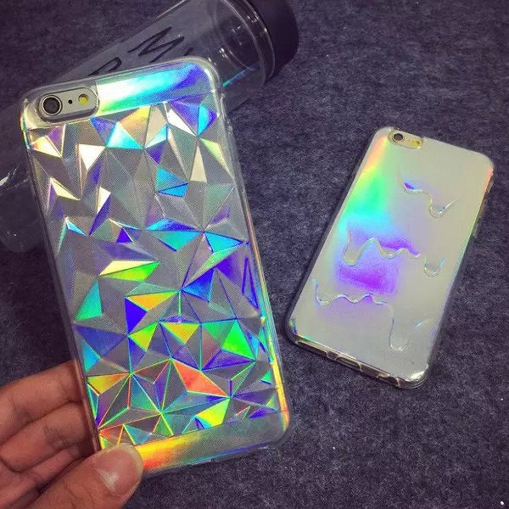 3D Diamond Rainbow Case
