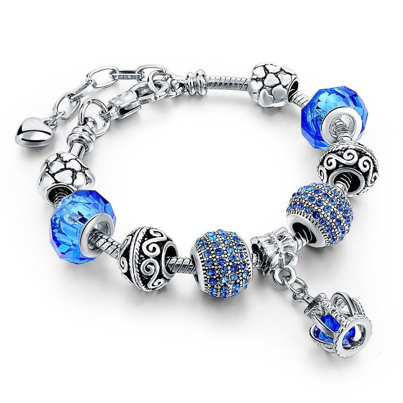 Bracelet Blue Crown