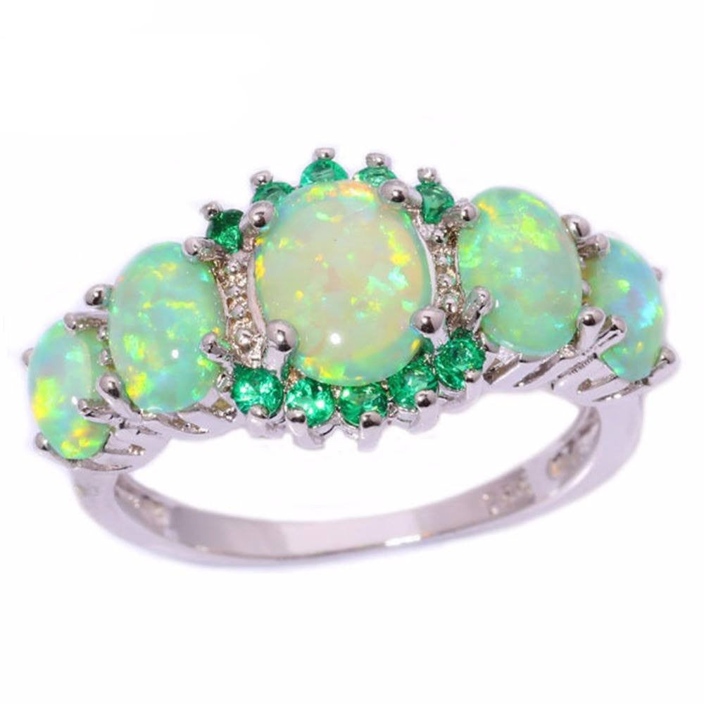 Elite Opal Green Bague
