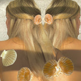 Clam Claw Hair Clip Multiuso - Conchiglia Perlaceo - Alice Bow