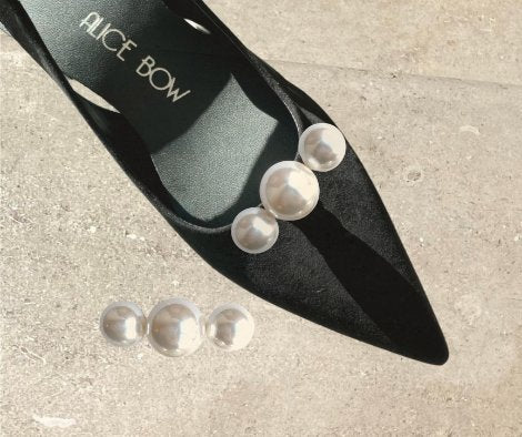 Le Shoe Clips Three Pearl - Alice Bow