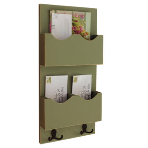 Tall Mail Organizer - Mail Sorter - Mail and Key Holder - Magazine Holder
