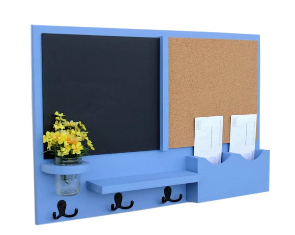 Mail Organizer -  Message Center - Cork - Chalk Board