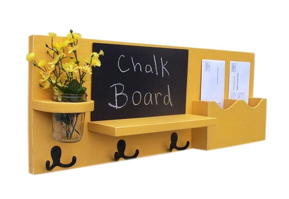 Mail Organizer Cork Board Chalkboard Message Center Coat Enchanting Chalkboard Coat Rack