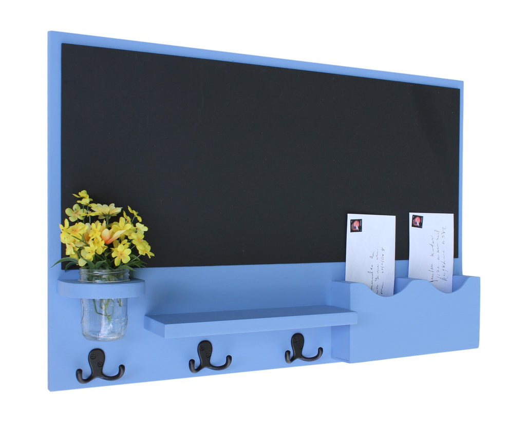 Chalkboard Mail Key Holder Mason Jar- Chalkboard Mail Organizer