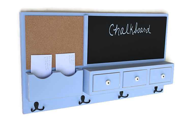 Message Center - Cork Board - Chalkboard - Coat Rack - Drawers