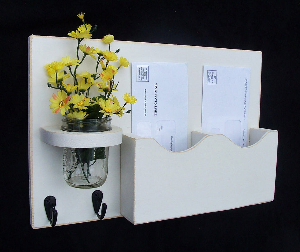 Mail Organizer - Mail Holder - Letter Holder - Mail and Key Holder
