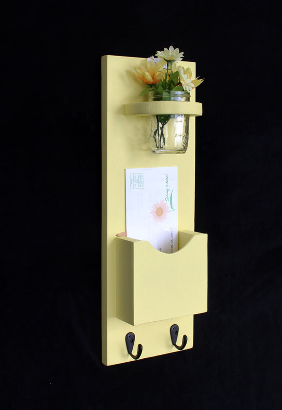 Mail Organizer - Letter Holder - Mail Holder - Mail Sorter - Key Hooks - Legacy Studio Decor - 1