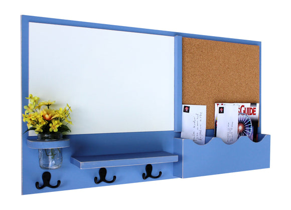 Mail Organizer - Cork - White Board - Message Center - Coat Rack - Legacy Studio Decor - 1