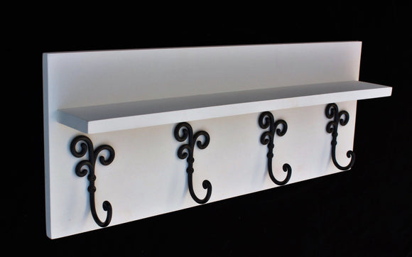 Coat Rack Shelf with Coat Hooks - Entry Way Shelf - Legacy Studio Decor - 1