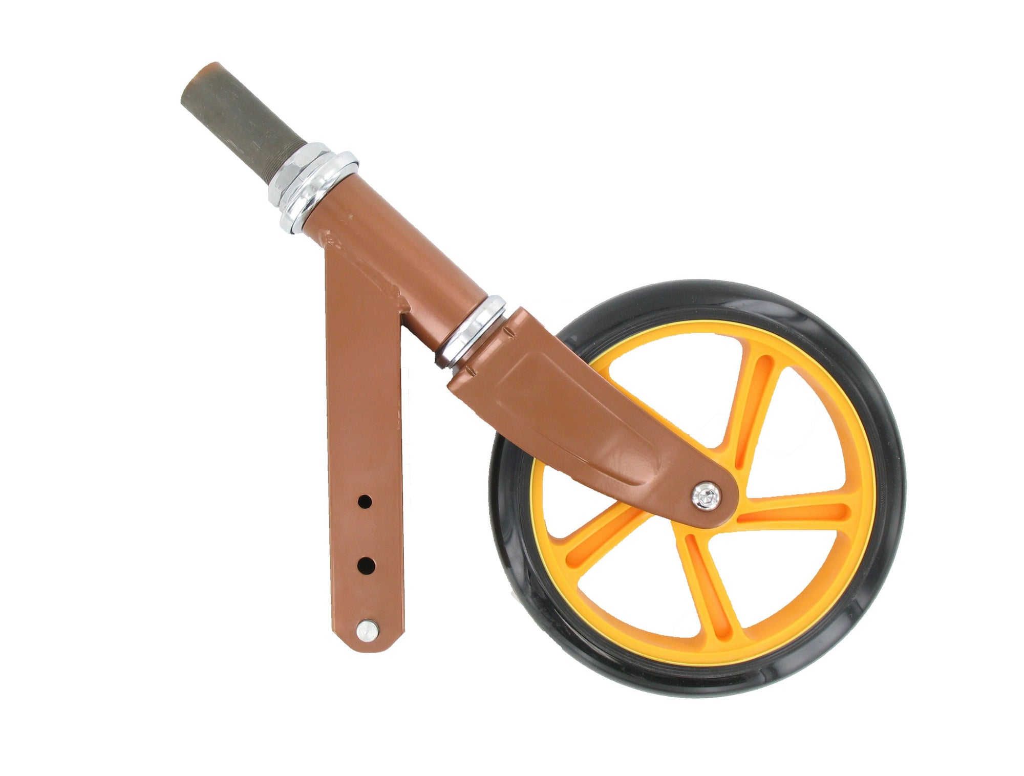 Space Scooter (x580) - Front fork with headset and front wheel (copper / orange)