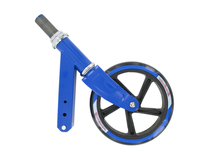 Space Scooter (x580) - Front fork with headset and front wheel (blue)