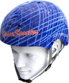 Space Scooter Helm Blauw