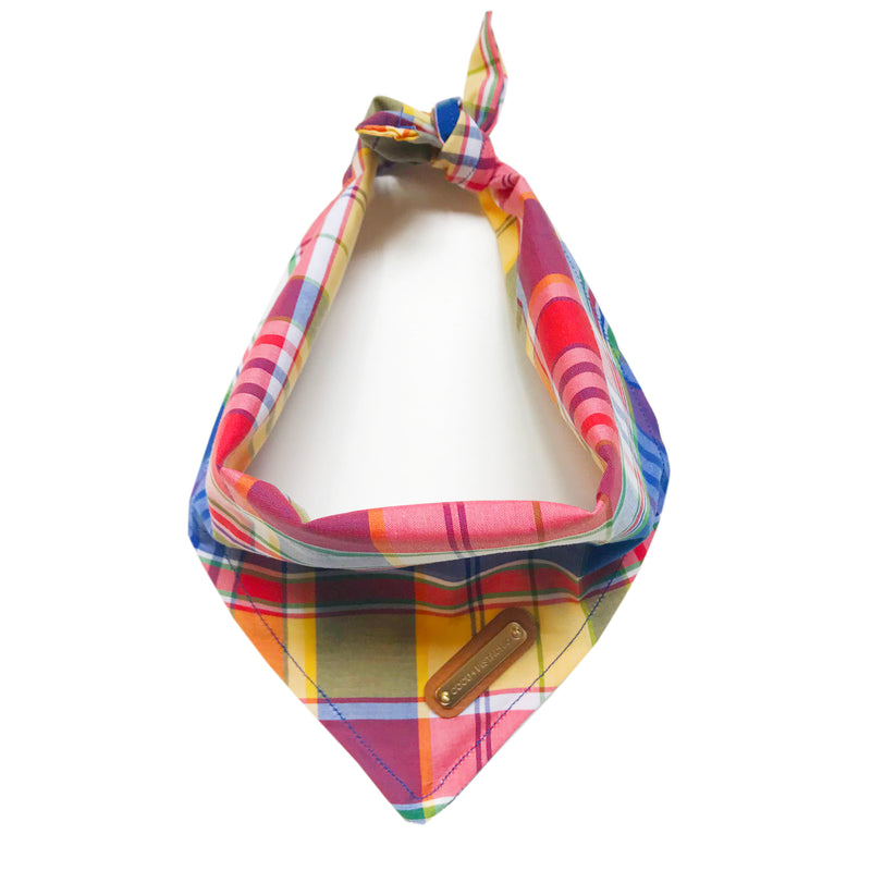 Connelly: Preppy Plaid Dog Bandana Dog Bandana- Coco and Pistachio