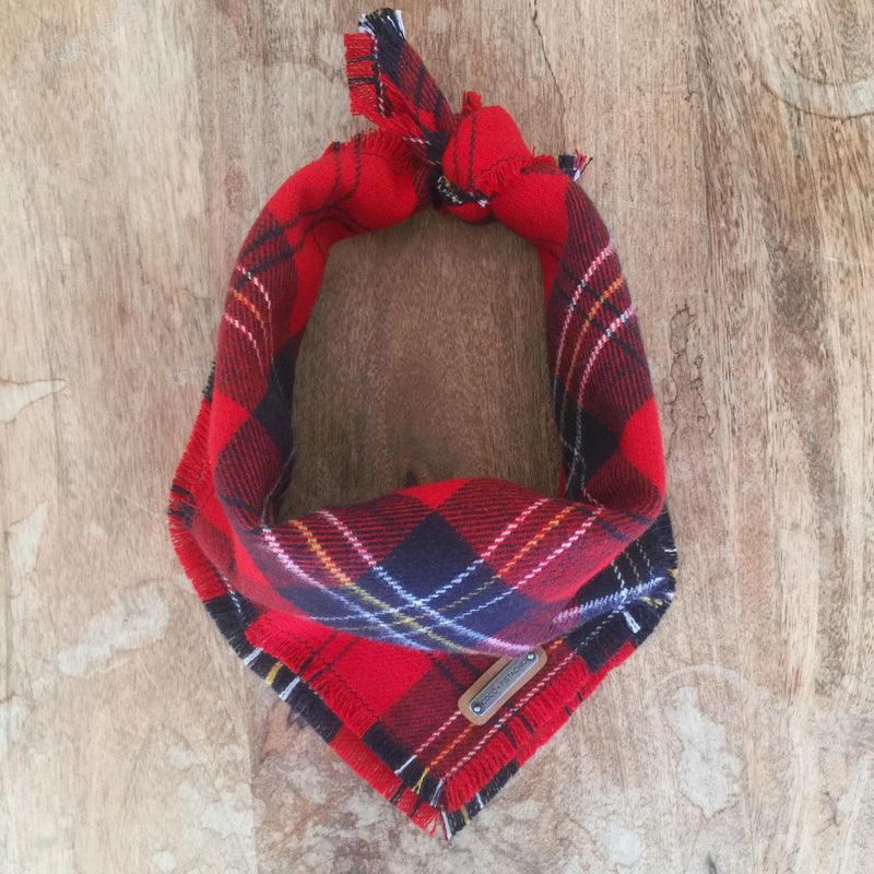 LENNAN: Red Tartan Plaid Bandana Dog Bandana- Coco and Pistachio