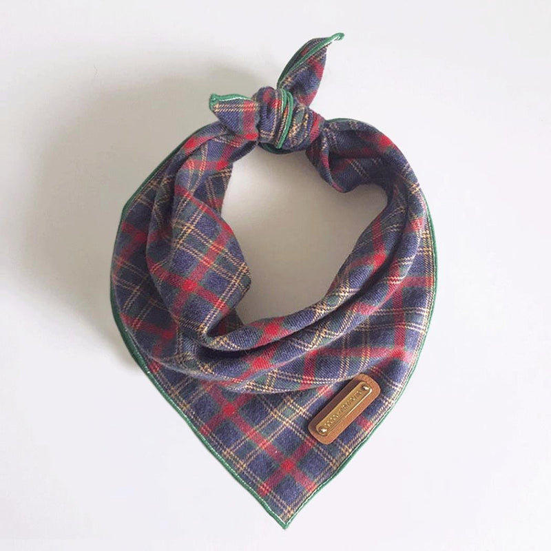 NAVI: Scottish Plaid Bandana Dog Bandana- Coco and Pistachio