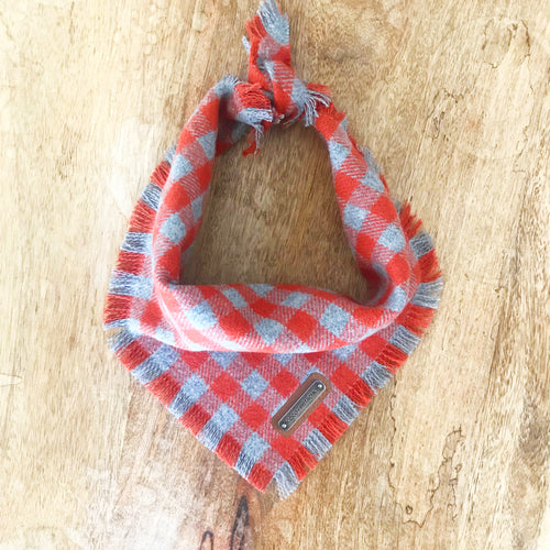 Sam Gingham Dog Bandana Dog Bandana- Coco and Pistachio