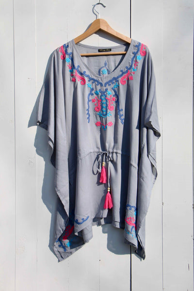 EMBROIDERY SHORT KAFTAN