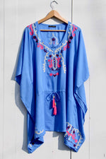 Load image into Gallery viewer, EMBROIDERY SHORT KAFTAN
