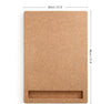 Design Cork board portrait with dimensions  - Corkframe