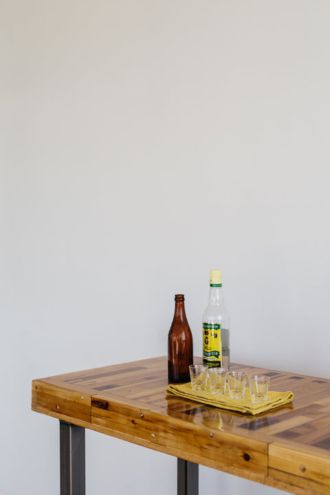 Reclaimed Wood Bar Table - Made in Detroit
