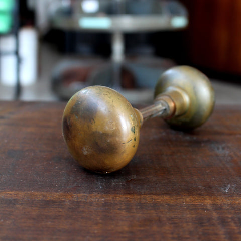 Salvage Brass Door Knob - Made in Detroit